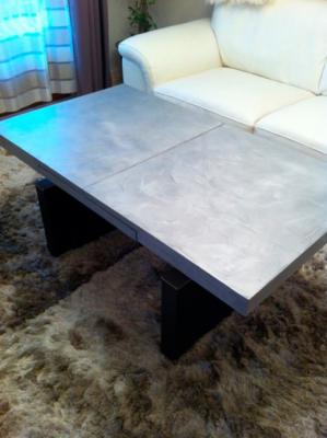 Table basse avec enduit ciré